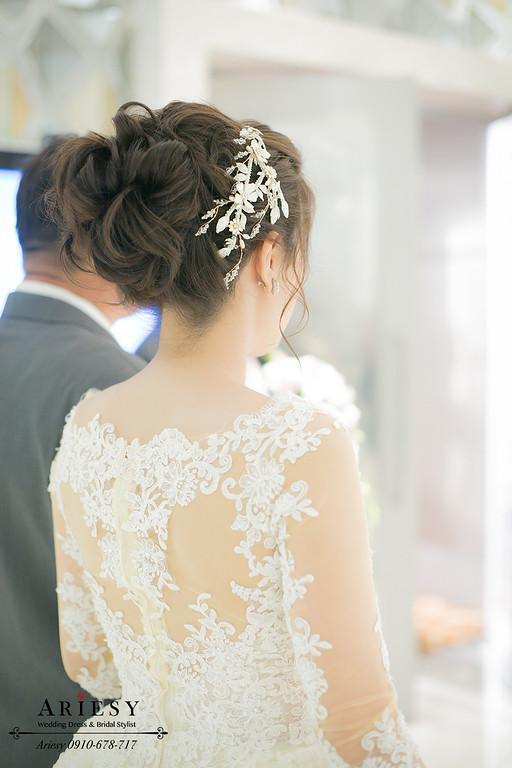 白紗髮型,鮮花造型,台北新秘,新娘秘書推薦,新娘造型