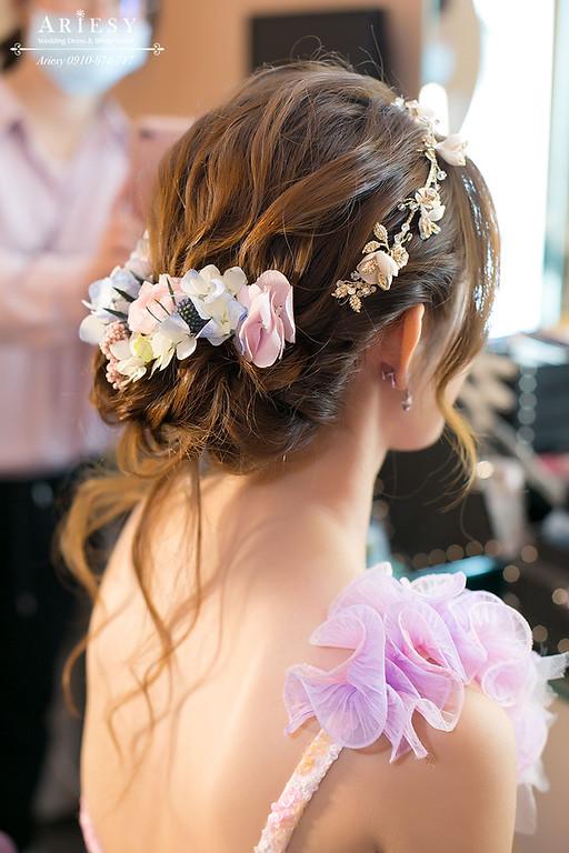 新娘秘書,新娘造型,旗袍造型,鮮花新秘,鮮花編髮