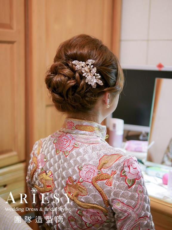 文定髮型,新娘編髮,新娘髮型,秀禾服造型,新娘自然妝