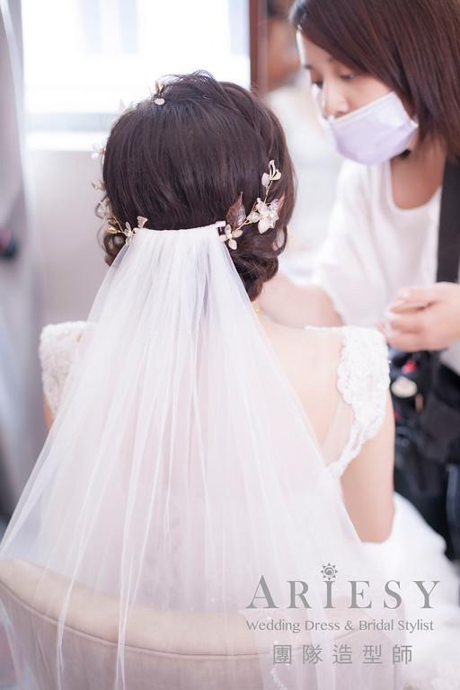 迎娶髮型,新娘秘書,新秘編髮,新娘編髮造型,髮量少新娘