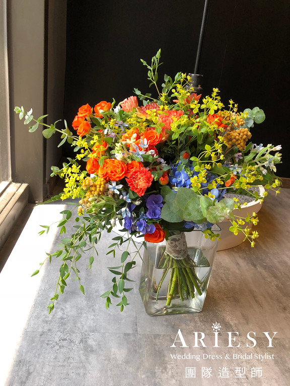 證婚儀式捧花,新娘捧花,新秘推薦,新郎胸花,美式捧花
