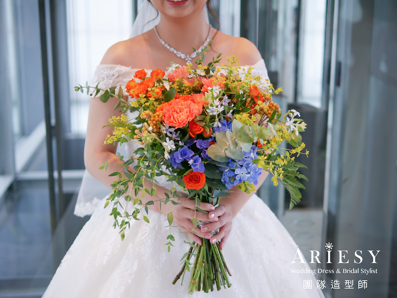 證婚儀式髮型,新秘編髮,新娘捧花,新秘推薦,新娘鮮花造型