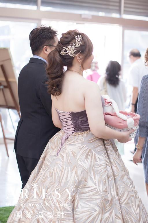 送客造型,敬酒髮型,新娘馬尾造型,髮量多新娘,新娘髮型