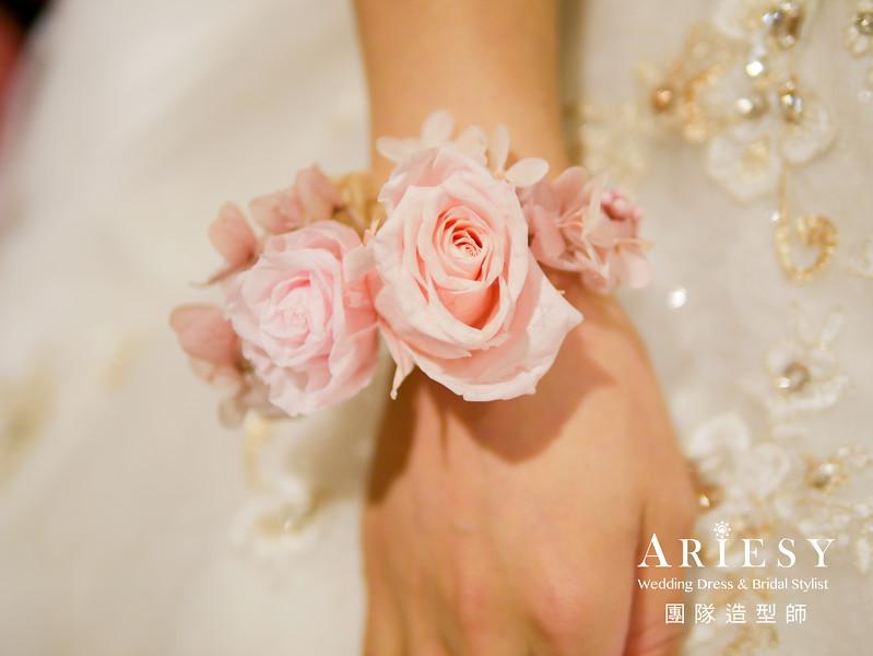 新娘鮮花造型,鮮花手環花,新秘花藝,新娘秘書,新秘