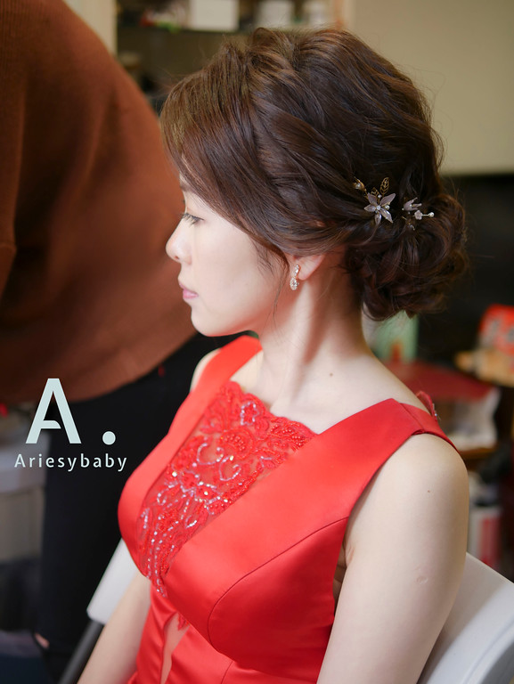 新祕,新娘祕書,文定新娘造型,Ariesybaby造型團隊,編髮造型