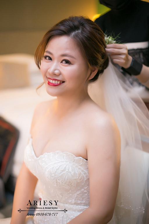 歐美新秘,美式新娘秘書,新竹喜來登婚禮,鮮花新娘造型,愛瑞思,ariesy