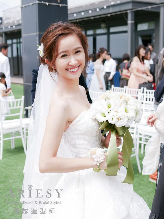 戶外證婚髮型,新秘,新秘編髮,新娘鮮花造型,新娘造型