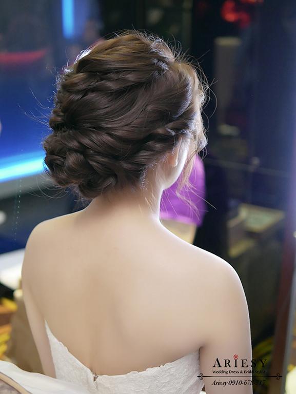 編髮新娘秘書,新秘,愛瑞思,新娘捧花,和璞婚禮,鮮花新秘