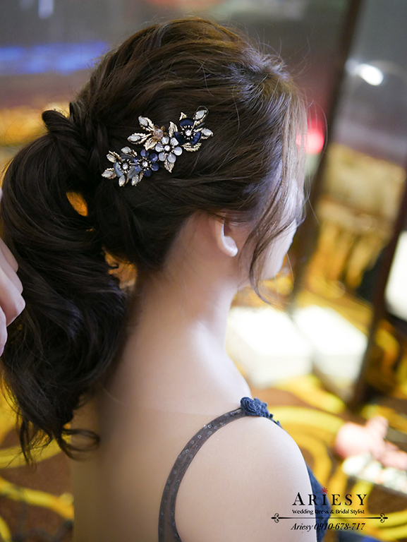 馬尾新娘造型,新娘秘書,新秘,愛瑞思,台北新秘,歐美新娘造型