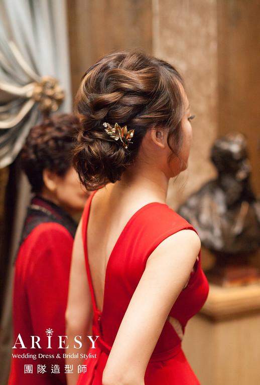 蓬鬆編髮,歐美風格,自然妝感,新娘造型,文定造型