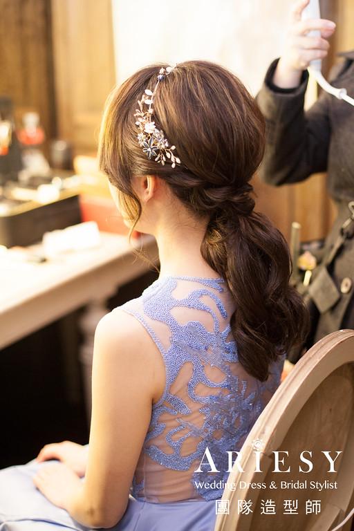 台北新秘推薦,敬酒造型,清透自然妝感,手工飾品,時尚造型