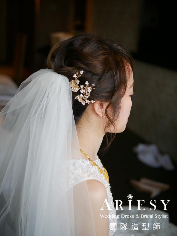 新娘妝感,編髮新秘,迎娶造型,新秘造型,新娘髮型