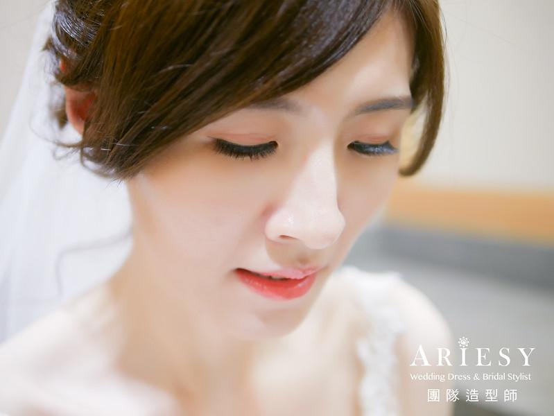 迎娶髮型,新秘,編髮,白紗新娘造型,新娘妝感