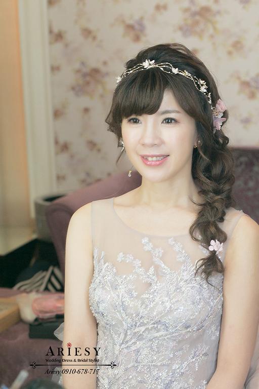 歐美編髮,新娘秘書,台北新秘,新娘造型,敬酒髮型,大直典華蜷川實花