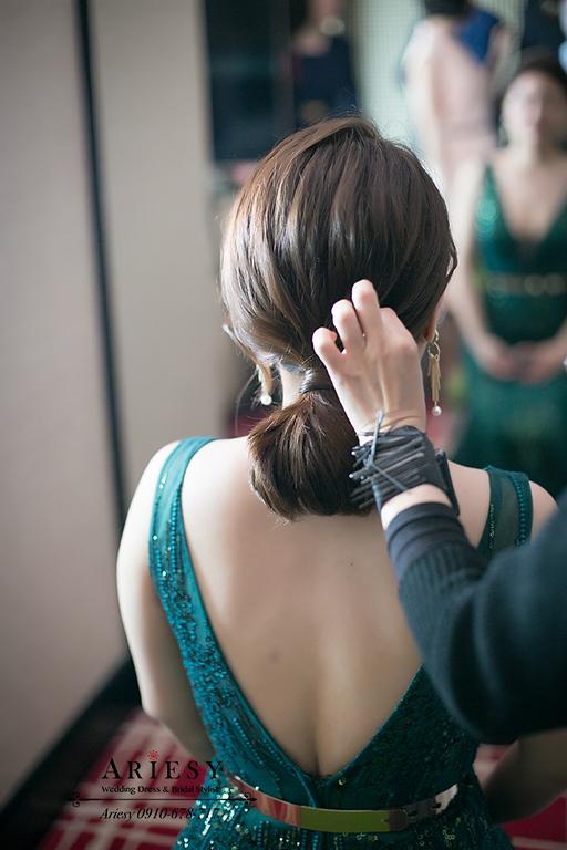 ARIESY婚紗,歐美風新娘造型,新娘秘書,台中新秘,馬尾新娘髮型,歐美新秘