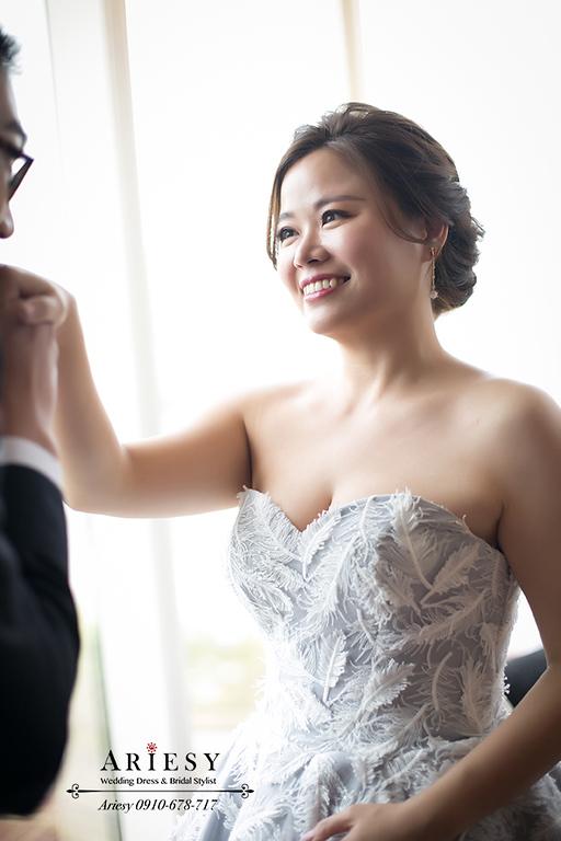 歐美風新娘造型,新娘秘書,台中新秘,歐美短髮盤髮,歐美新秘,愛瑞思婚紗