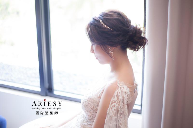 桃園新祕,新娘秘書,新娘造型,蓬鬆編髮,白紗造型,證婚儀式,新娘髮型,進場造型,花藝新秘,短髮新娘