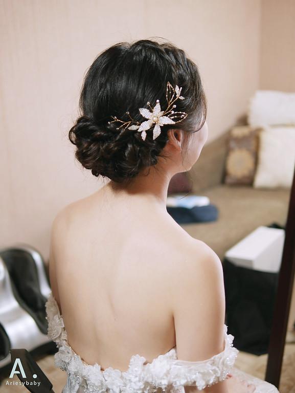 新娘秘書,新祕,台北新秘,新娘髮型,Ariesybaby造型團隊,清透妝感,新娘造型,白紗造型