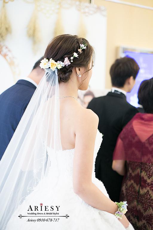 鮮花新秘,白紗造型,新秘,新娘秘書,台北新秘,愛瑞思
