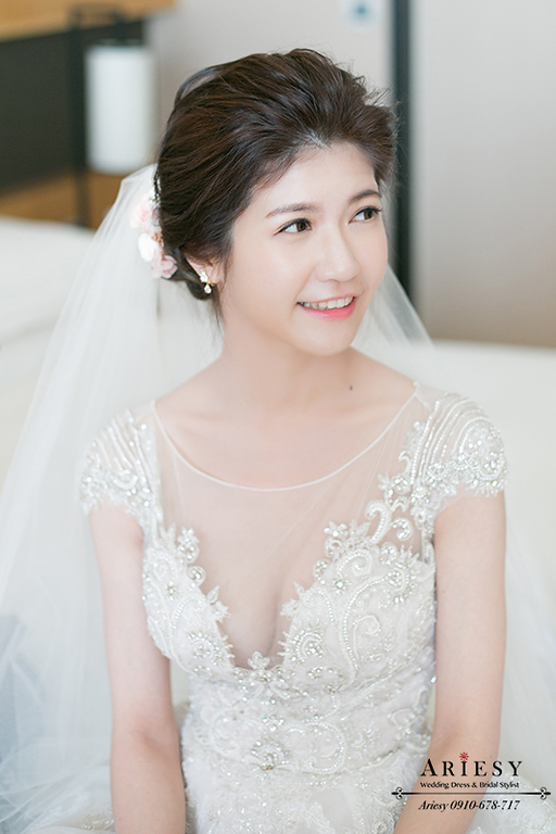 新娘秘書,新秘,愛瑞思,Ariesy,迎娶造型,晶英酒店婚禮