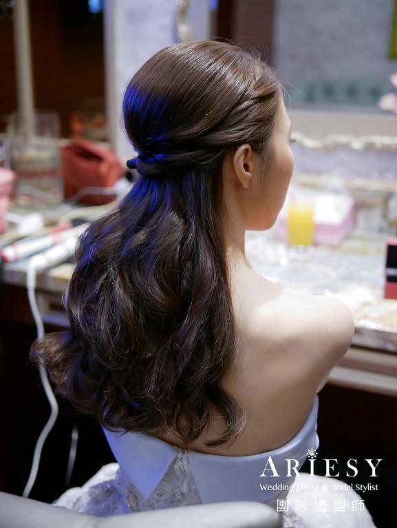 敬酒髮型,韓風造型,新秘,乾淨俐落造型,新娘髮型