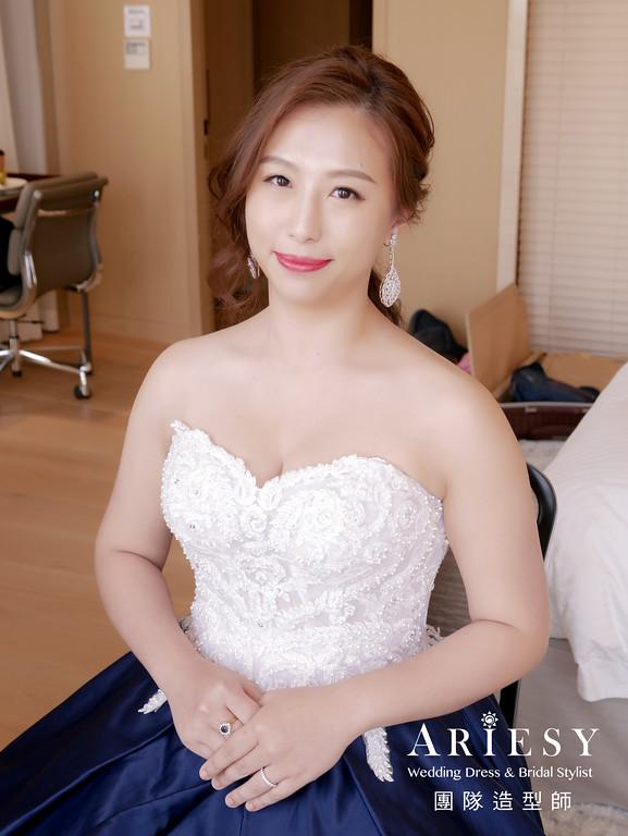 敬酒造型,新娘時尚造型,新娘表演造型,氣質造型,低馬尾造型