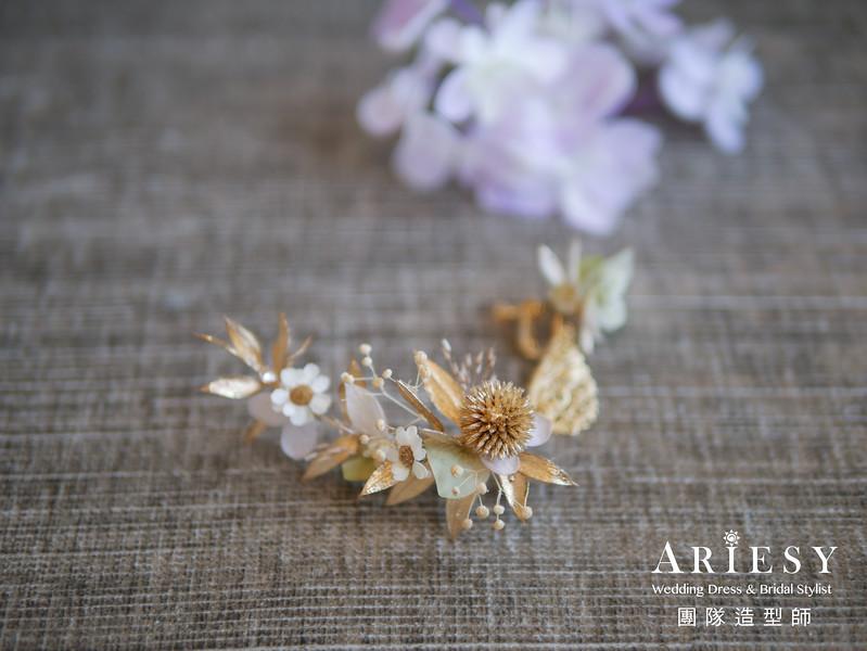 新秘花藝,新娘花造型,不凋花耳環,新秘推薦,台北新秘