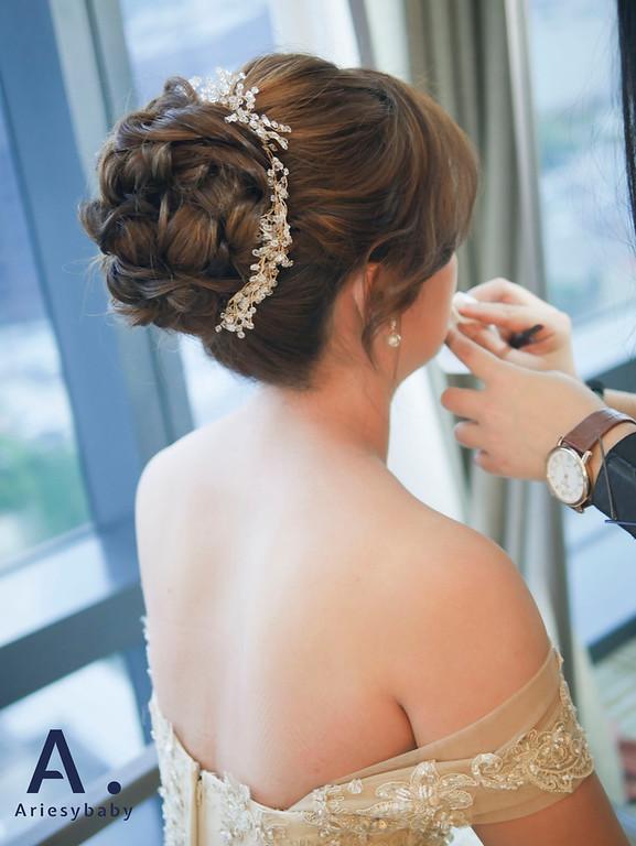 新祕,新娘祕書,Ariesybaby造型團隊,新娘造型,新莊新祕,盤髮造型