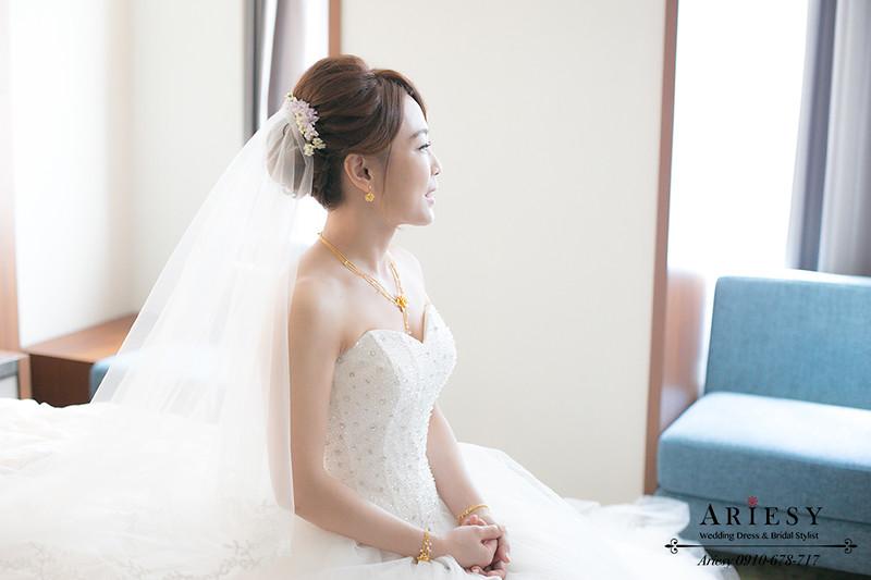 白紗造型,台北新秘推薦,自然輕透妝感,新娘捧花,台北新秘