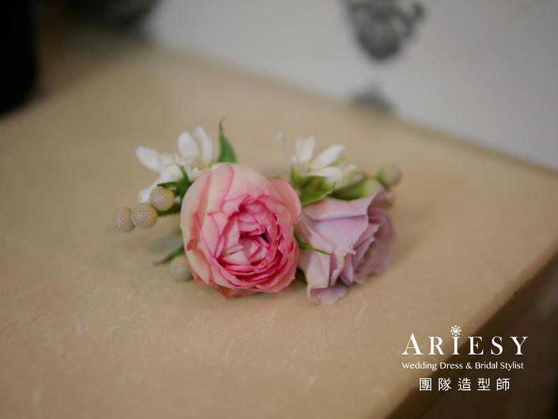 新秘花藝,手環花,手腕花,鮮花造型,台北新秘