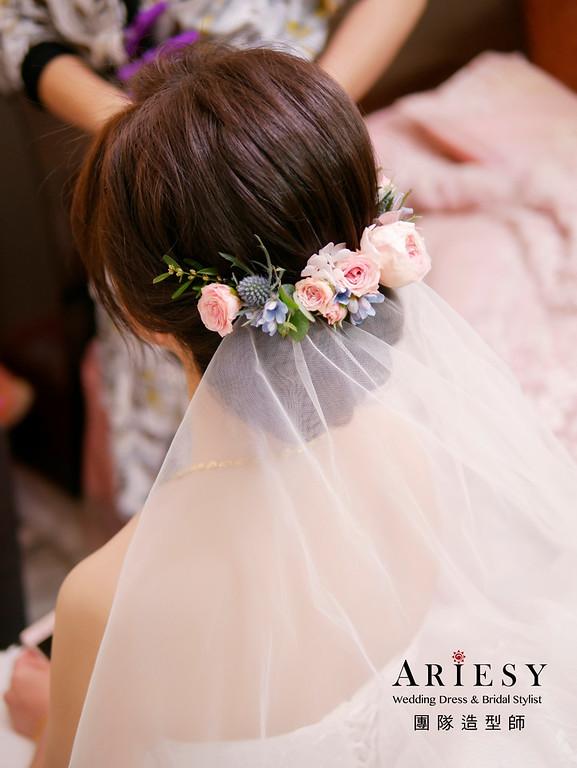 自然新娘妝感,韓風盤髮造型,韓風新娘造型,自然輕透妝感,新娘秘書