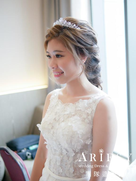 白紗進場髮型,新娘皇冠造型,新娘妝,新秘推薦,新娘編髮