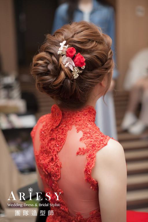 文定造型,旗袍造型,新秘花藝,新娘編髮,台北新秘推薦