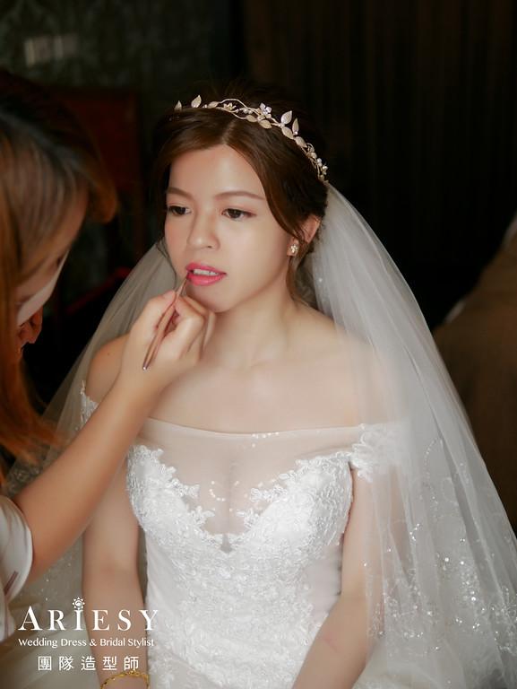 迎娶造型,新娘清透妝感,新娘髮型,歐美新娘造型,氣質新娘