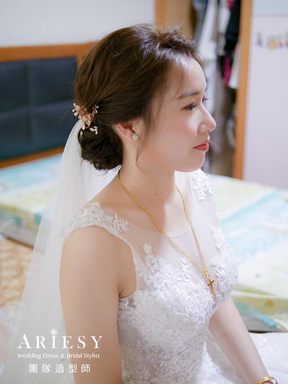 迎娶造型,新娘編髮,新娘髮型,新秘手工飾品,白紗造型