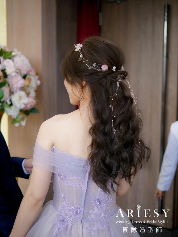 敬酒髮型,公主頭造型,甜美風格造型,台北新秘,歐美風格