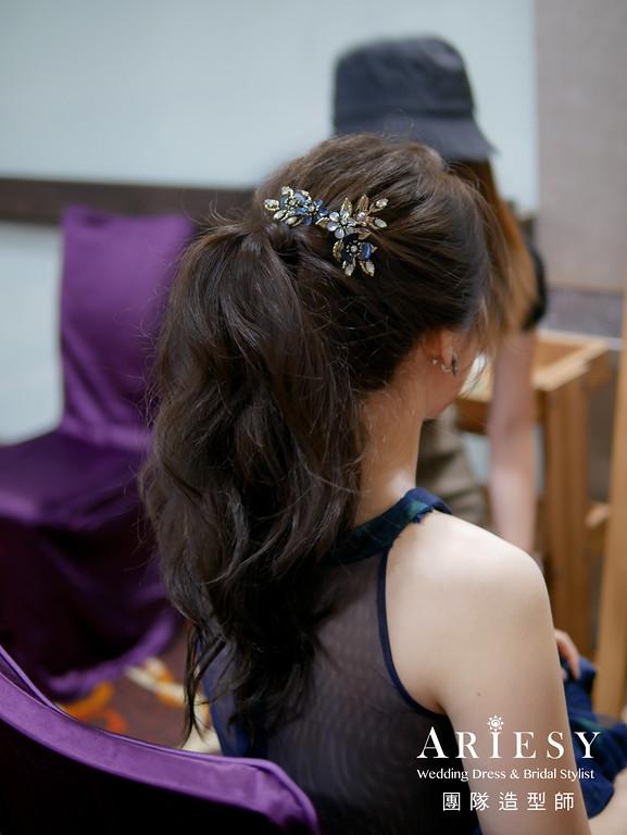送客髮型,放髮造型,名媛風格,新秘推薦,新娘造型