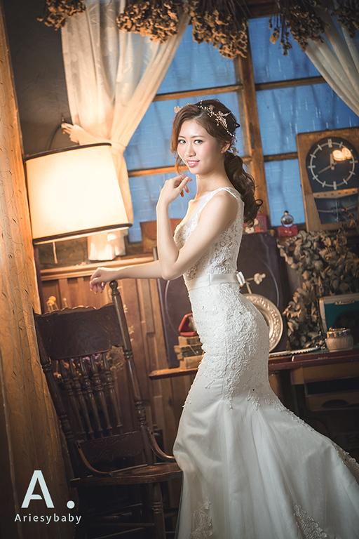 白紗魚尾造型,新娘髮型,蕾絲白紗,新莊禮服出租,婚攝小紅莓,ARIESY婚紗