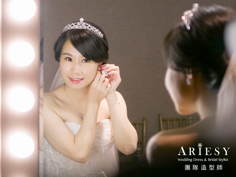 白紗進場髮型,新娘皇冠造型,短髮新娘,編髮髮型,歐美風格