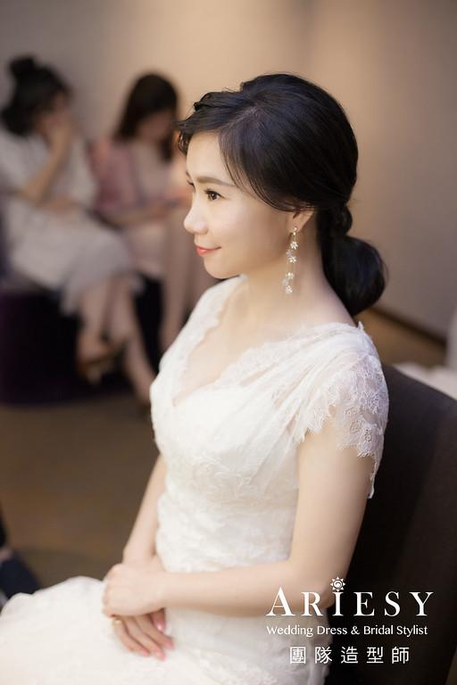 敬酒造型,白紗禮服造型,短髮新娘,歐美風格,新娘妝