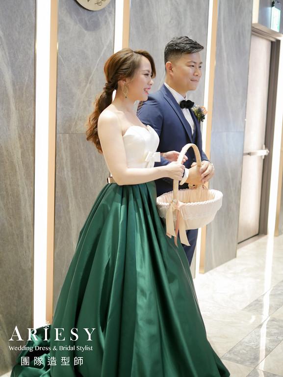 送客造型,愛瑞思婚紗,新娘馬尾造型,新秘,新娘妝