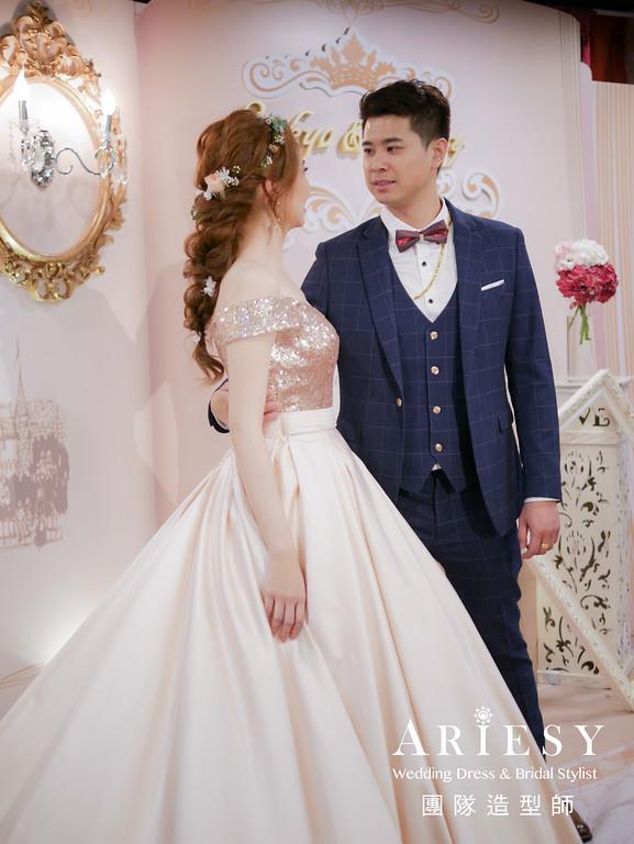 送客髮型,敬酒造型,金色禮服造型,鮮花造型,新娘髮型