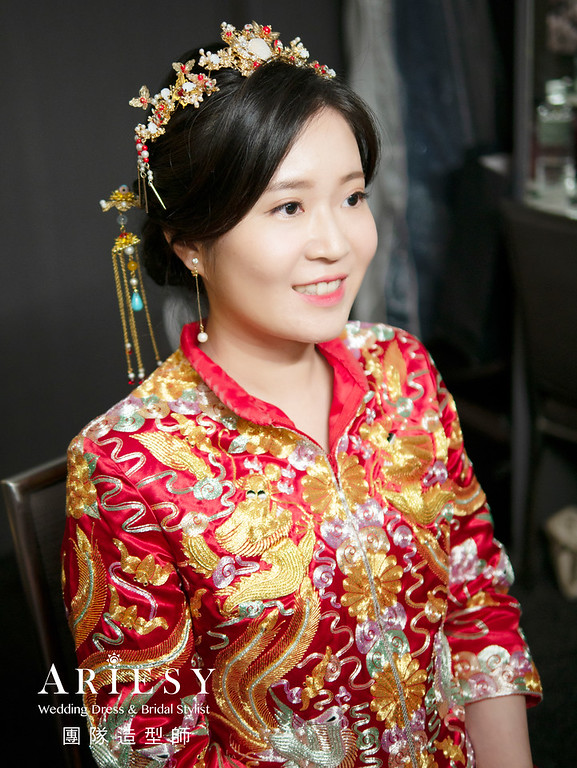 新秘推薦,台北新秘,秀禾服造型,新娘推薦,新娘秘書