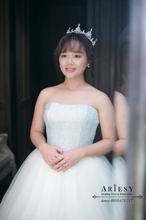 君品送客新娘造型,精緻新娘妝感,華麗公主新娘造型,愛瑞思,ARIESY,新秘,新娘秘書,新秘推薦