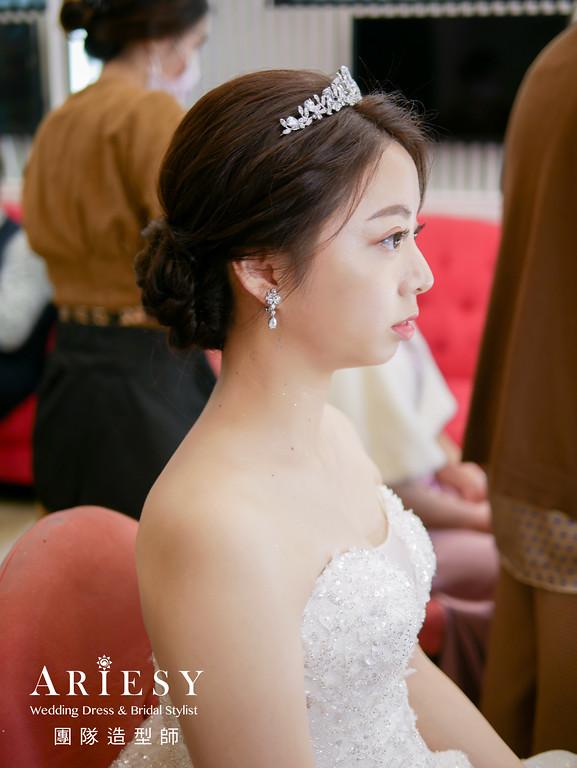 進場造型,新娘編髮,黑髮新娘,自然清透妝感,新秘推薦
