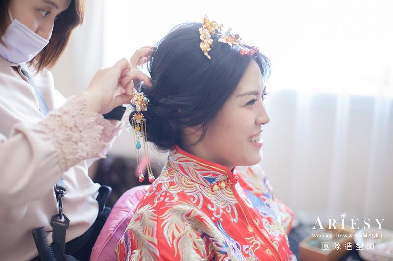 敬酒造型,秀禾服造型,新娘盤髮,台北新秘推薦,黑髮造型