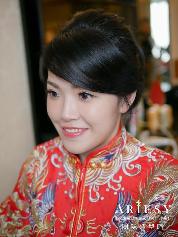 文定髮型,新娘妝感,新娘髮型,秀禾服造型,台北新娘秘書