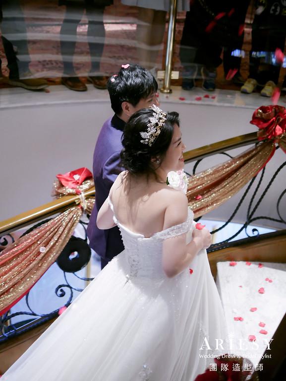 白紗進場髮型,新娘編髮,皇冠造型,新秘,新娘髮型