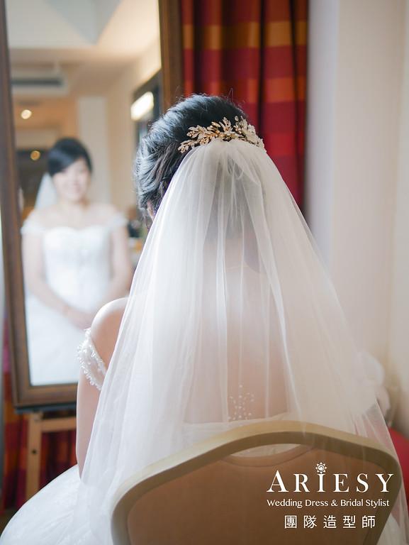迎娶髮型,編髮,白紗新娘造型,新娘妝感,新娘頭紗