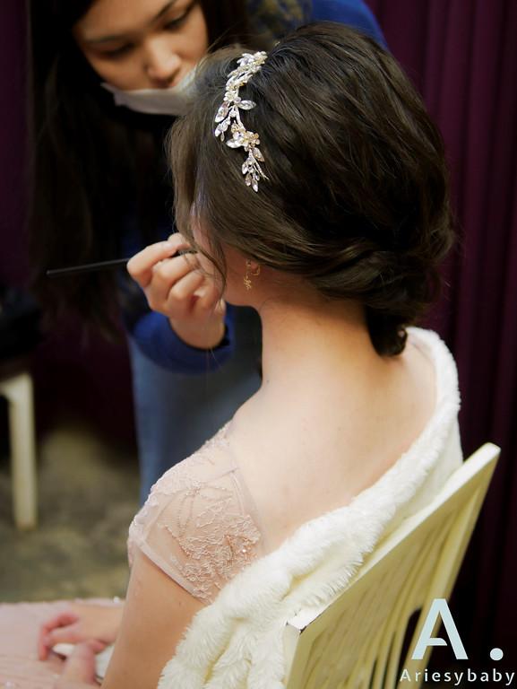 新祕,新娘祕書,敬酒造型,黑髮新娘造型,Ariesybaby造型團隊,編髮造型